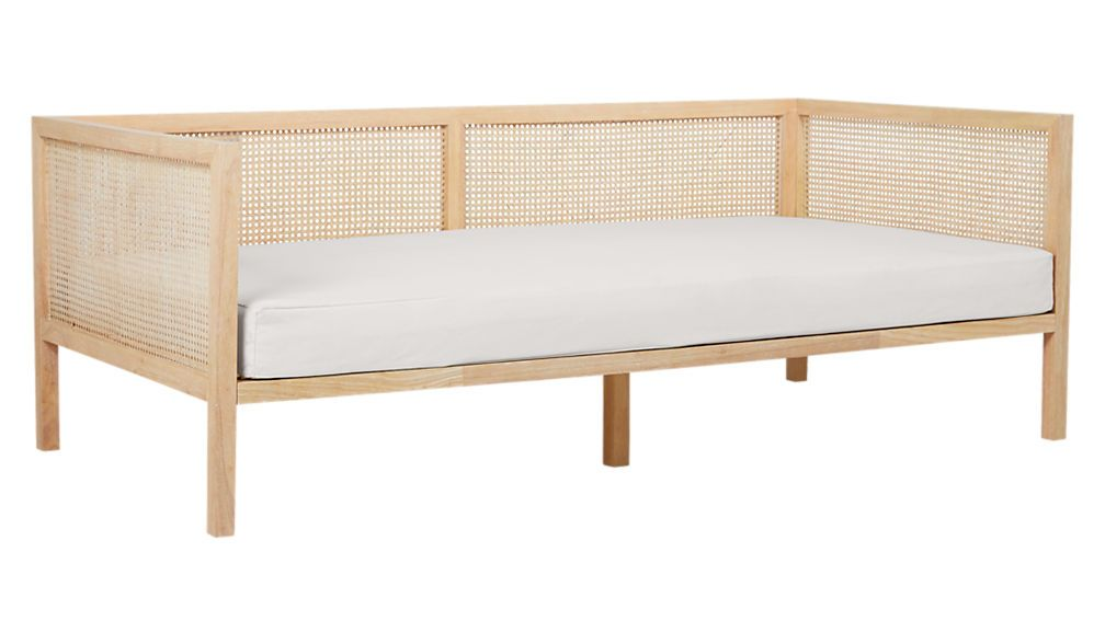Boho Natural Daybed With Pearl White Mattress Cover Reviews Cheap Furniture Stores