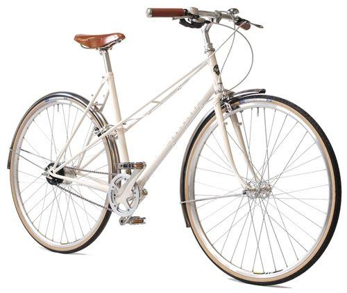 Pashley Aurora 8 Alfine Hvid Klassisk Dame Citybike Cykel Tilbud
