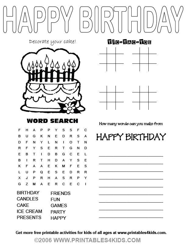 Happy Birthday ESL the Teaching stuff Pinterest Word search - copy happy birthday coloring pages for teachers