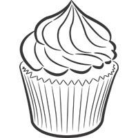 cupcake with frosting  free kids coloring  frosting