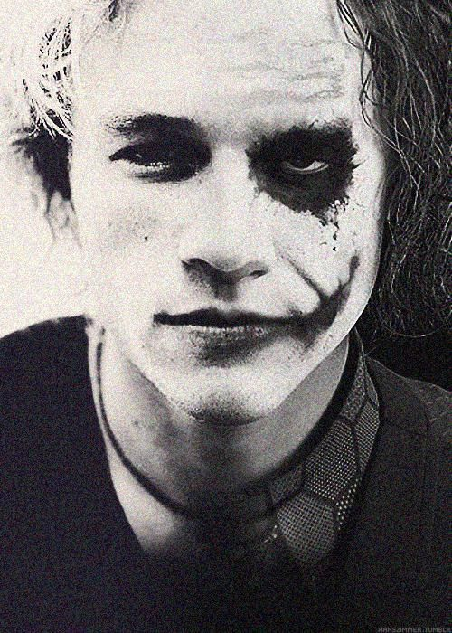Awesome Half Half Picture Of Heath Ledger Joker My