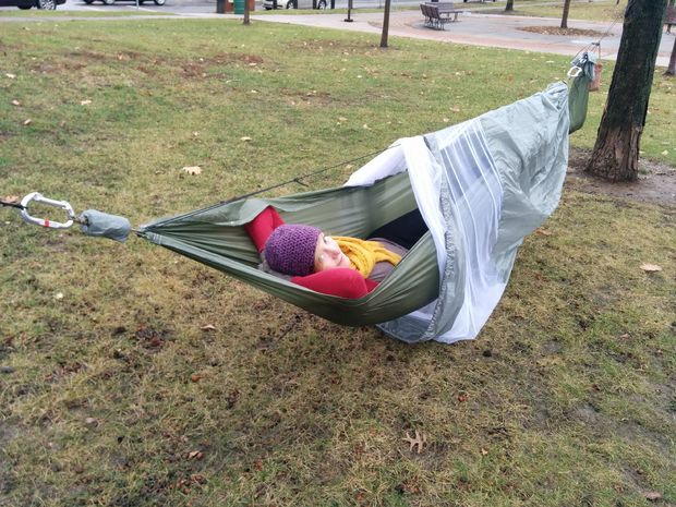 Medium image of this project will show you step by step how to make a  plete camping hammock including the hammock mesh bug  rainfly and tree straps