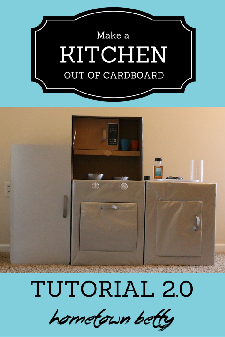 Ready To Make A Kid Play Kitchen Out Of Cardboard This Is Four Part Series Instructions Here Are Refrigerator 1