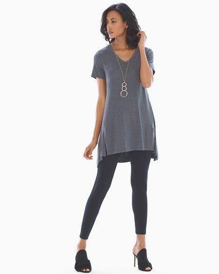 7a1e536b39428 Soma Style Essentials Soft Jersey Short Sleeve Tunic Tee Heather Quartz