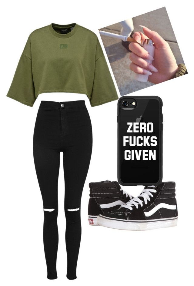 """Untitled #15"" by princesssanique on Polyvore featuring Topshop, Vans and Casetify"