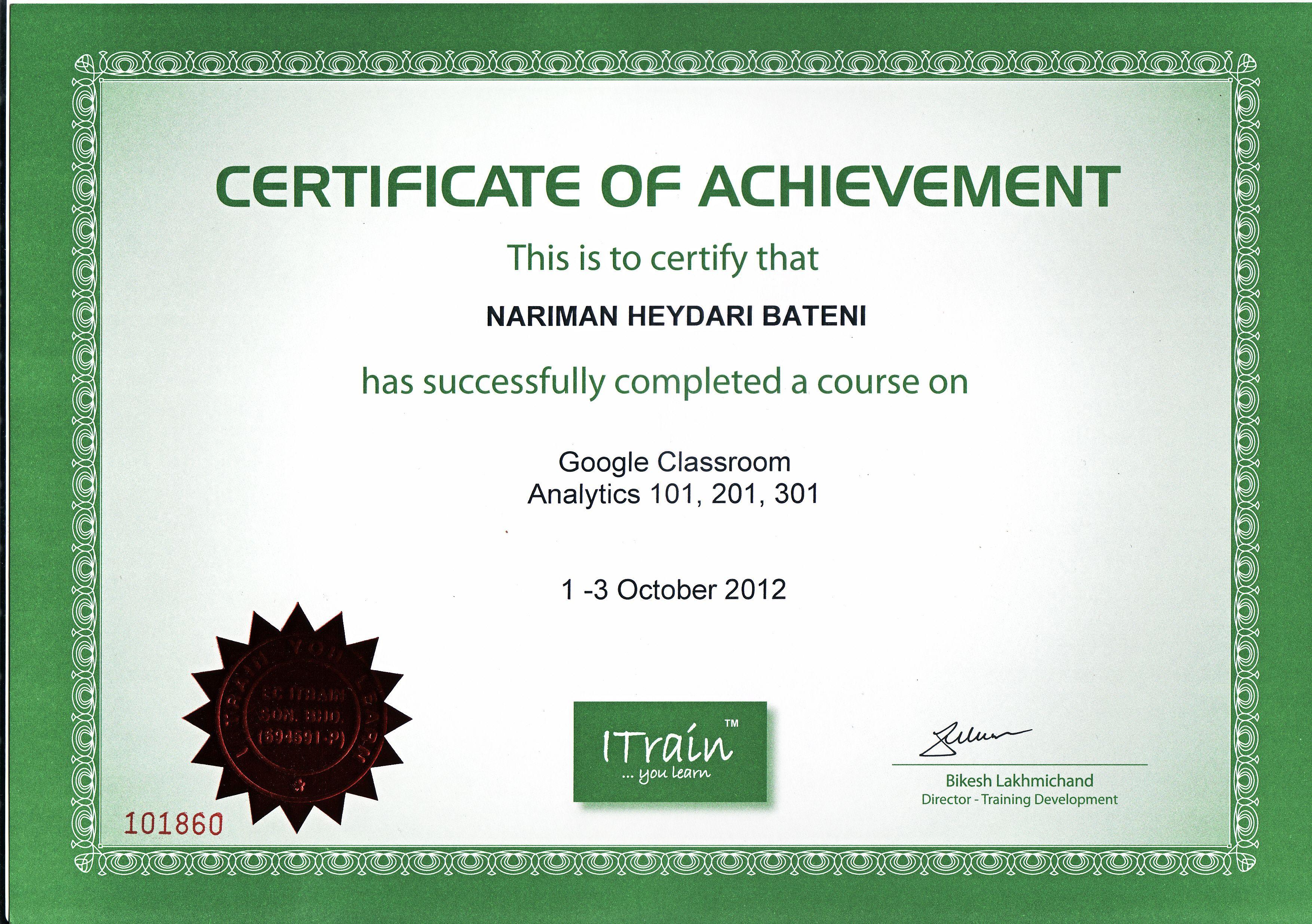 Google analytics professional certificate analytics 101 201 google analytics professional certificate analytics 101 201 301 itrain education malaysia xflitez Gallery