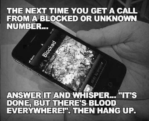 Answering an unknown number