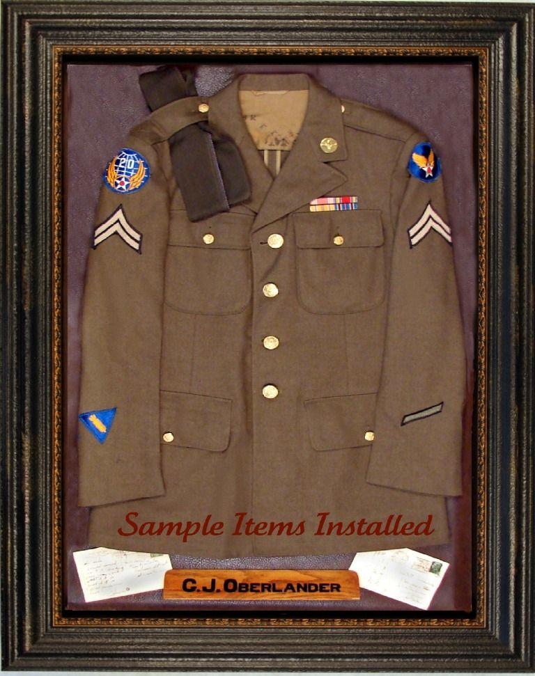 Military Uniform Display Case | dad | Pinterest