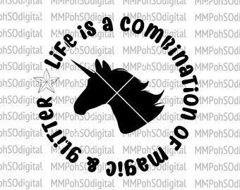 Unicorn Head with Quote Circling SVG | Cricut | Pinterest
