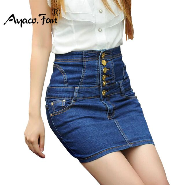 Special price 2017 New Casual Women Skirt Summer Saias Plus Size 5XL High Waist Jeans Skirt Ladies Denim Long Jean Pencil Skirts Femininas just only $15.93 with free shipping worldwide  #womanskirts Plese click on picture to see our special price for you