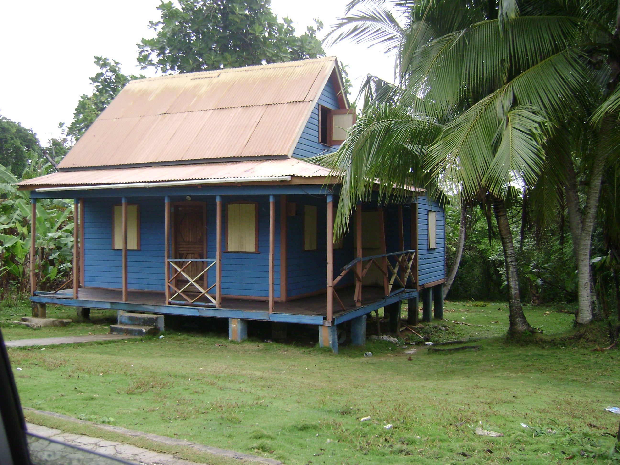 Casa típica, arquitectura isleña de San Andrés. Colombia