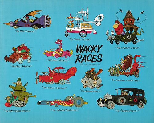 Hanna barbera s wacky races publicity flyer autos