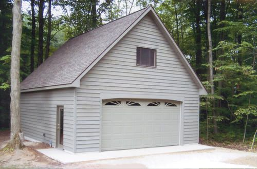 24 X 30 X 10 2 Car Garage If I Were To Do This Garage I Would Make Sure The Foundation Had A 6 Stem Wall To Achieve Garage Plans Garage
