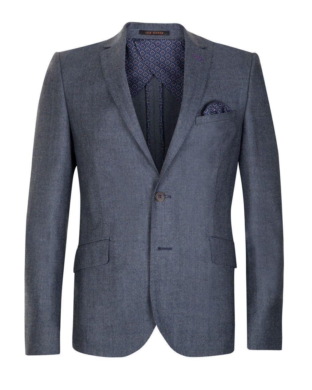 c2f766665072 Birdseye deconstructed suit jacket - Light Blue