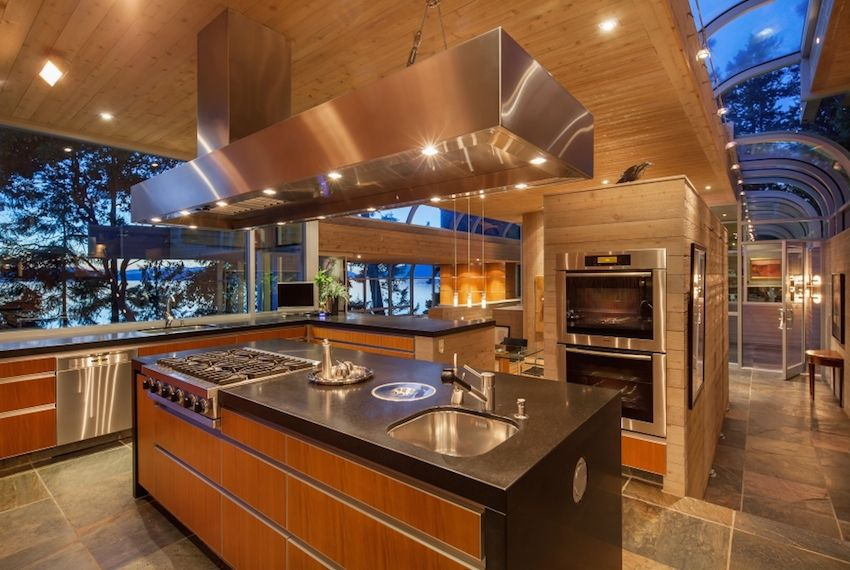 Stunning waterfront property in north saanich on the canadian west coast west coast contemporary and interiors