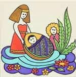 quiet book pages - moses and the bulrushes - Google Search