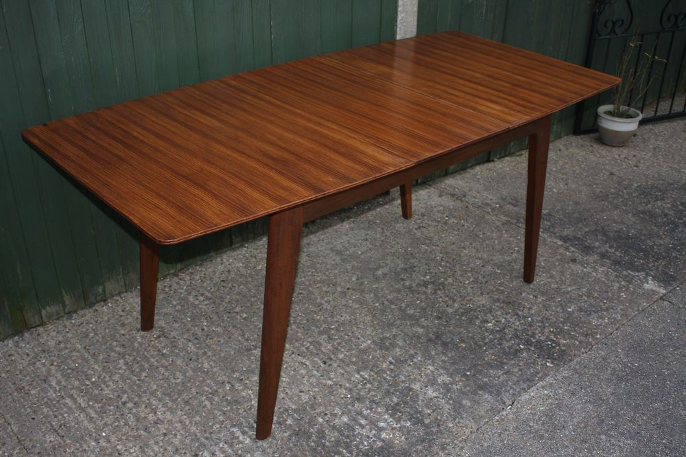 1960s Teak Extending Dining Table Vintage Retro Danish Style