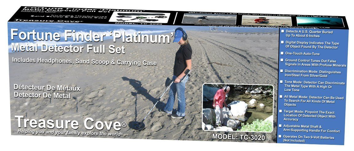 Amazon com : Treasure Cove TC-3020 Platinum Metal Detector