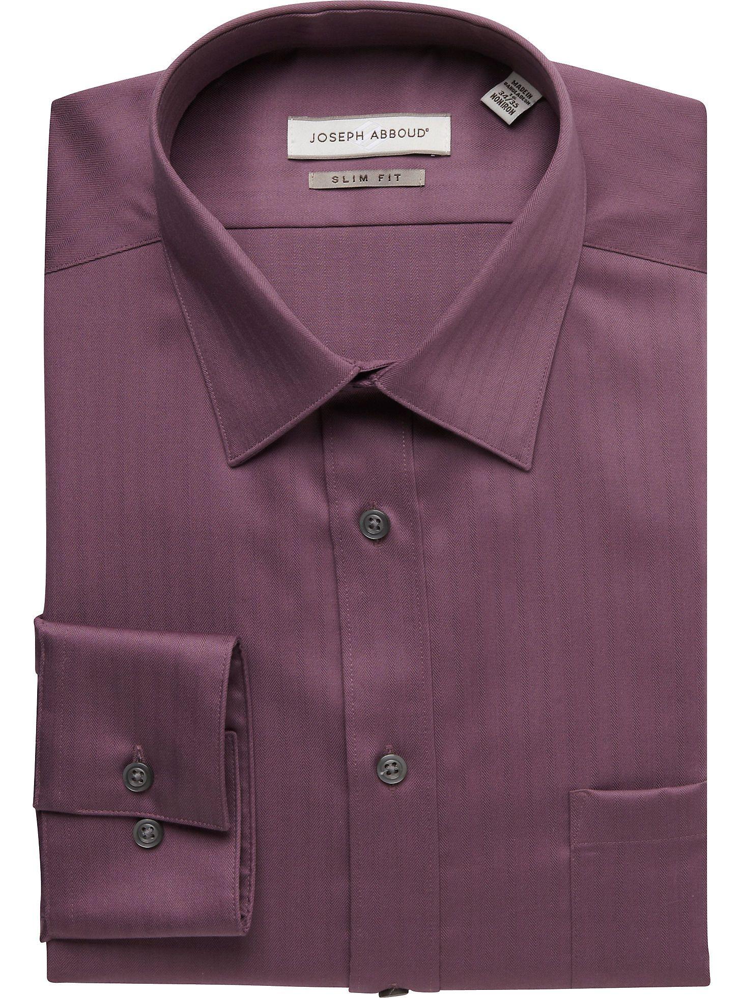 0c2fe849acf Dress Shirts - Joseph Abboud Mauve Slim Fit Dress Shirt - Men s Wearhouse