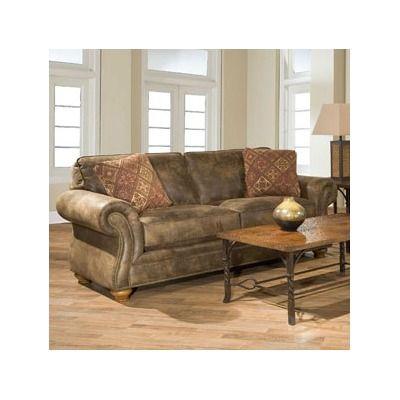 Remarkable Broyhill Laramie Microfiber Sofa In Distressed Brown Sofa Uwap Interior Chair Design Uwaporg