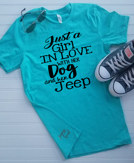 Just A Girl In Love With Her Dog And Her Jeep Unisex T Shirt Plus Size Jeep Shirts Jeep Life Jeep