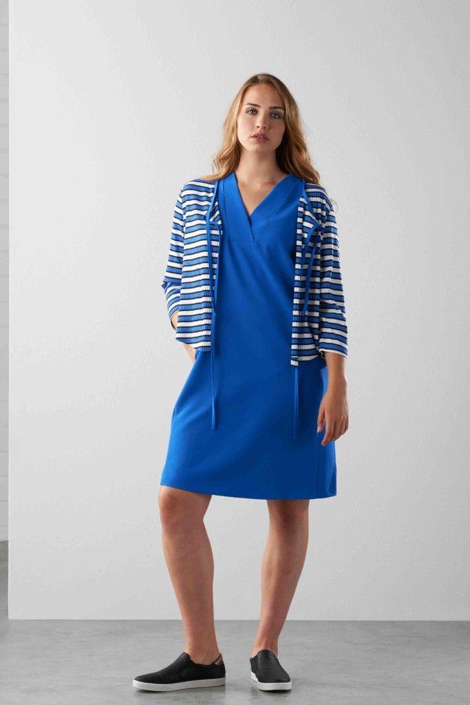 Blauwe jurk maxima