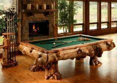 Amazing Log Pool Tables Pool Table Custom Pool Tables Rustic House