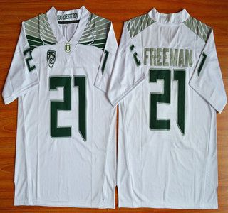 timeless design e5fa6 677f0 Oregon Duck Jersey 21 Royce Freeman Light White College ...