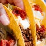 Best Classic Ground Beef Tacos #groundbeeftacos Best Classic Ground Beef Tacos #groundbeeftacos