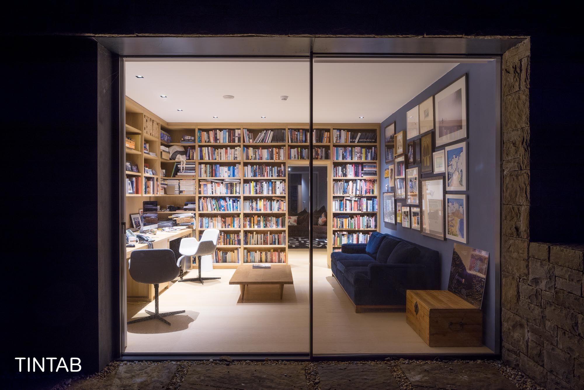 Library Bookshelves For A Modern Luxury Home Bespoke Design Created By Tintab Ltd