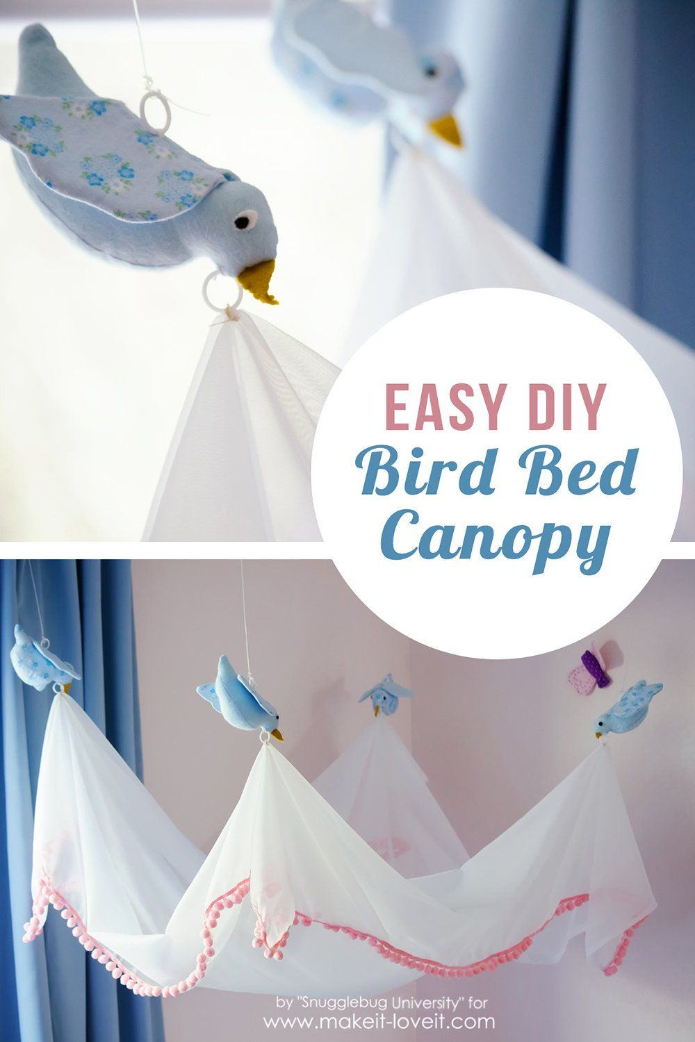 Easy DIY Bird Canopy For Above Crib Love This A Girl Cinderella Themed Nursery