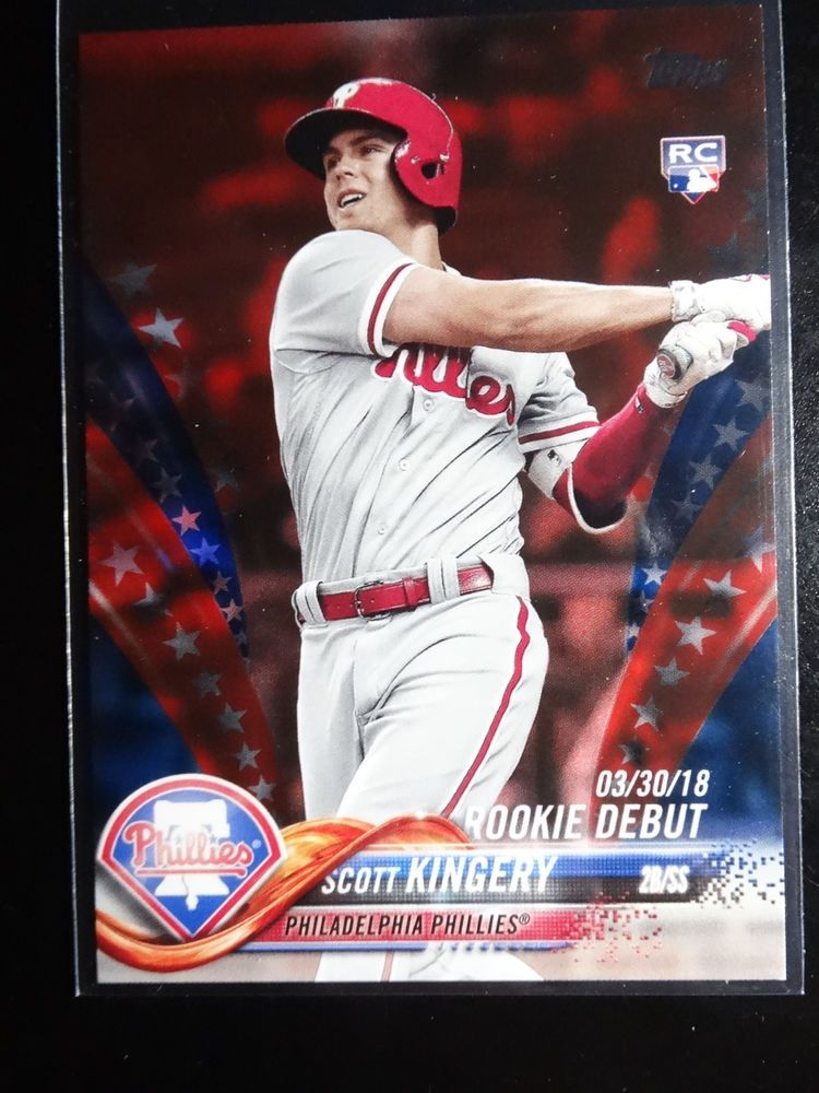 2018 Topps Update Us14 Scott Kingery Phillies Independence Parallel Card 21 76 Topps Philadelphiaphillies Phillies Cards Baseball Cards