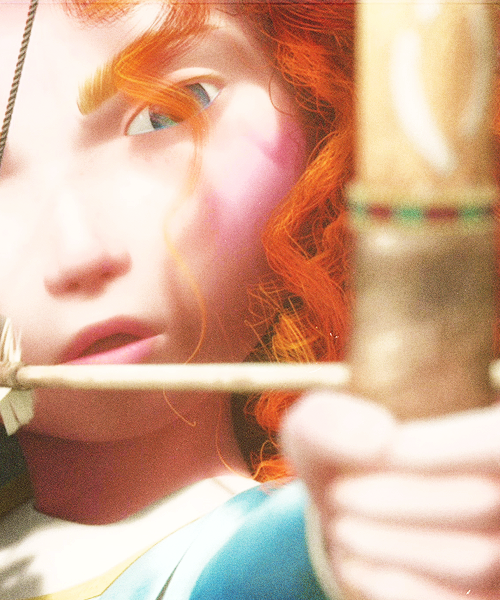 Merida - Brave looks like Katniss!!!