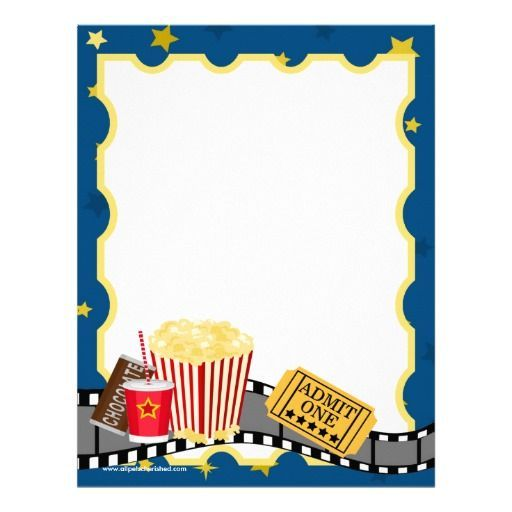 Movie Theatre Stationary boarders Pinterest Party