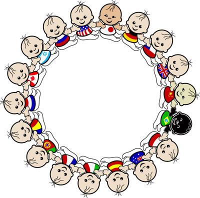 Ninos Alrededor Del Mundo Para Imprimir Imagenes Y Dibujos Para Imprimir Clip Art Borders Baby Clip Art Borders And Frames
