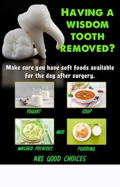 Having Your Wisdom Teeth Removed Make Sure You Have Soft Foods Available For The Day Dental SurgeryTeeth