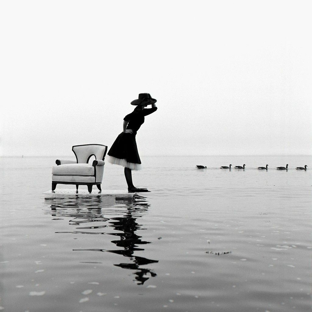 Rodney Smith | Zoe on Water with Ducks, Sherwood Island, CT (2004) | Available for Sale | Artsy