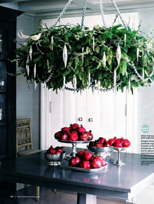 *Evergreen Chandelier *Christmas *Holiday *Kitchen *Festive