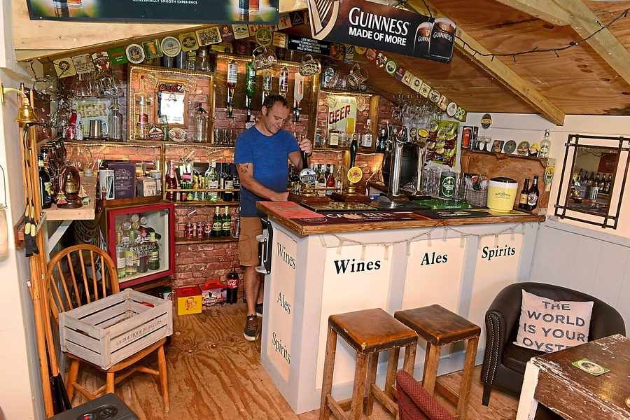 Shed Into Man Cave : Summer house bar ideas google search shed for my place