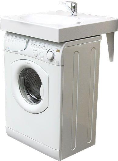 un lavabo poser sur votre machine laver gain de place. Black Bedroom Furniture Sets. Home Design Ideas