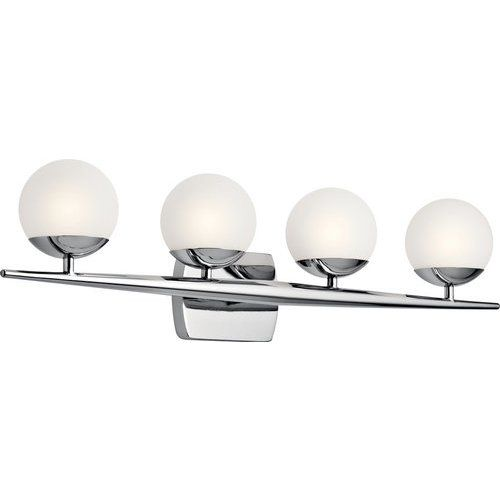 Photo of Kichler Jasper 4 Light Halogen Wall Lamp – Chrome 45583CH