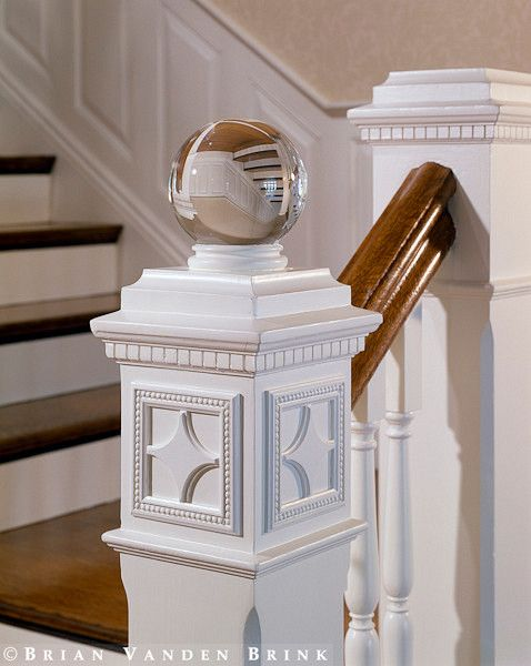 Interesting Crystal Ball Finial This Is Also Done With Marble
