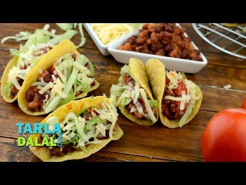 Youtube dinner pinterest bean tacos mexicans and fry baby tacos veg mexican bean tacos recipe by tarla dalal forumfinder Gallery