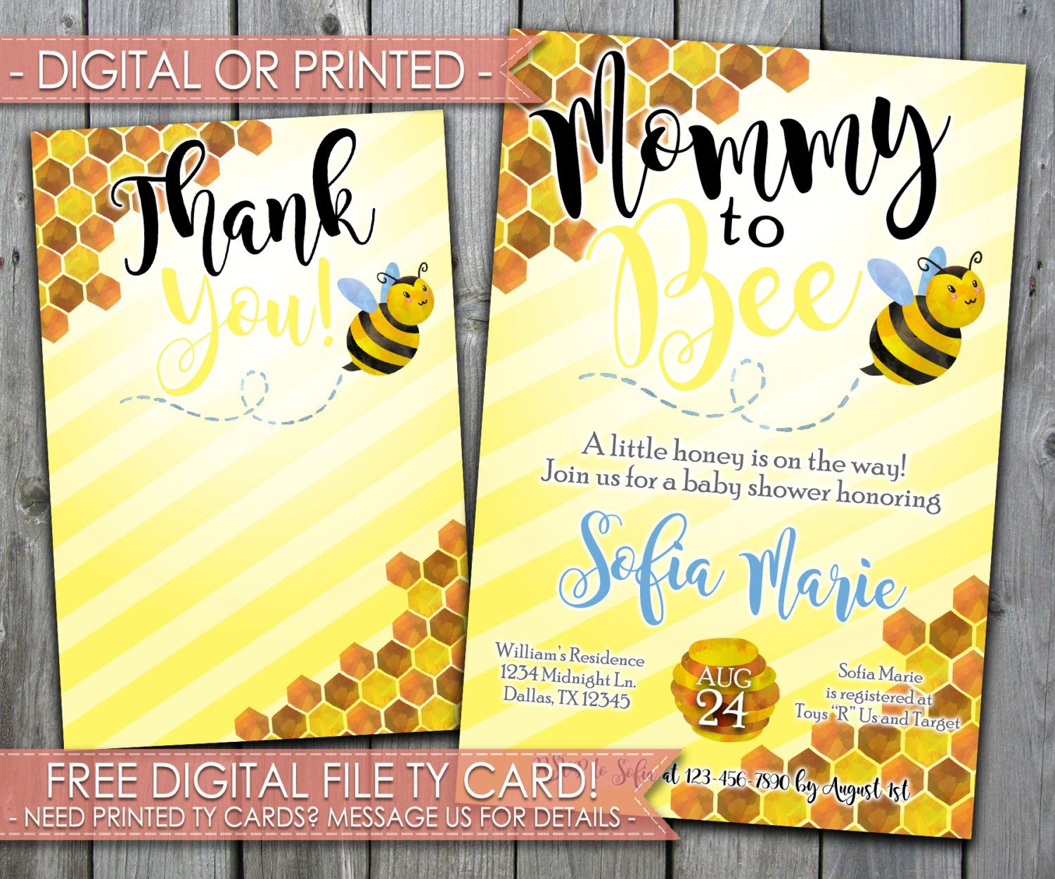 Bumble Bee Baby Shower Invitation, Mommy to Bee Baby Shower ...