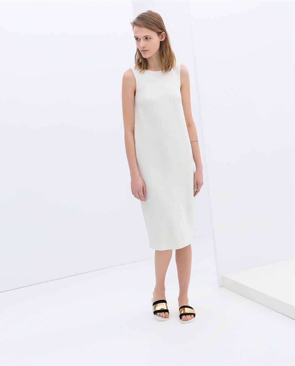 7761addb924e52 Image 1 of SLEEVELESS SHIFT DRESS from Zara Summer Work Dresses