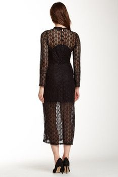 Dance and Marvel Long Sleeve Lace Dress