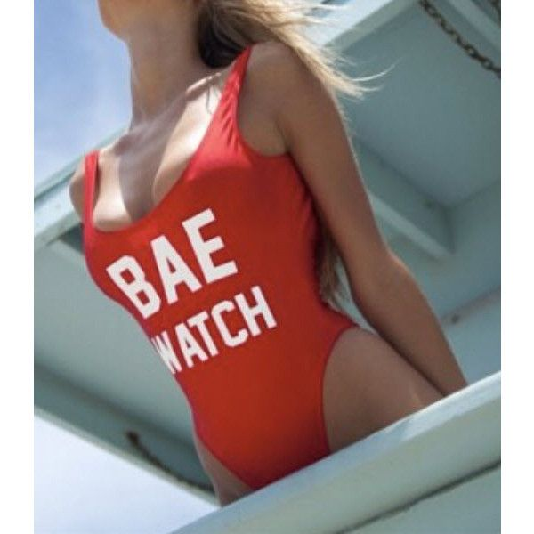 Bae Swimsuit ($36) ❤ liked on Polyvore featuring swimwear, one-piece swimsuits, red, spandex swimsuits, red swimwear, swim suits, lycra swimwear and one piece swimsuits