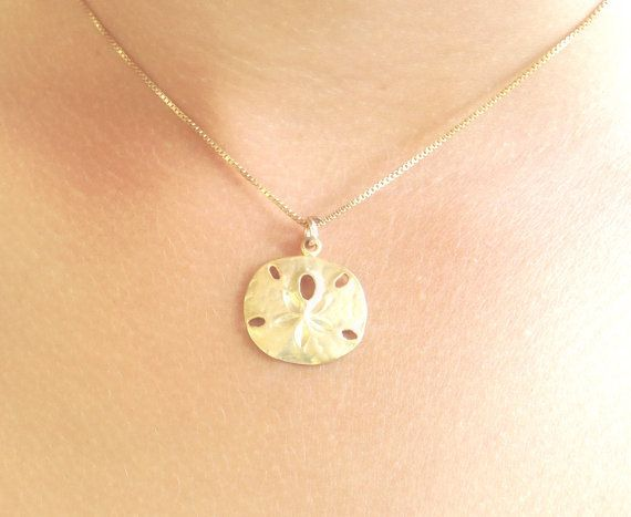 Nautical Jewelry Sand Dollar Pendant Sterling Silver Beach Jewelry Gift For Her Silver Necklace Shell Jewlery
