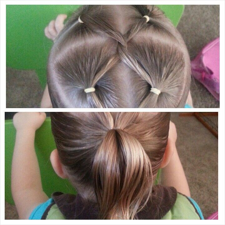 A Simple Way To Add Pizzazz To A Simple Ponytail Braids For Short Hair Hair Styles Little Girl Hairstyles