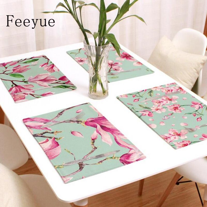Plant Table Mat PVC Placemats Insulation Dinning Bowl Pad Tableware  S